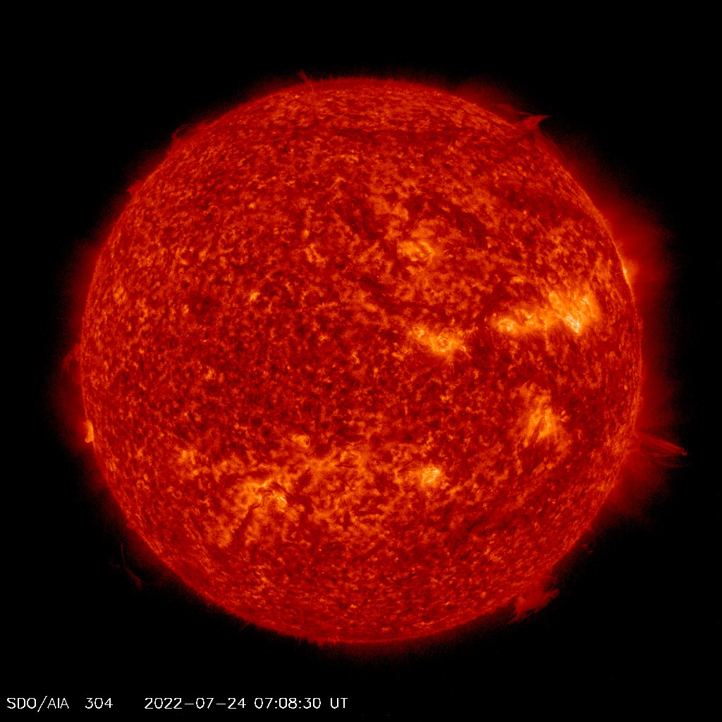 view of the Sun in ultraviolet
