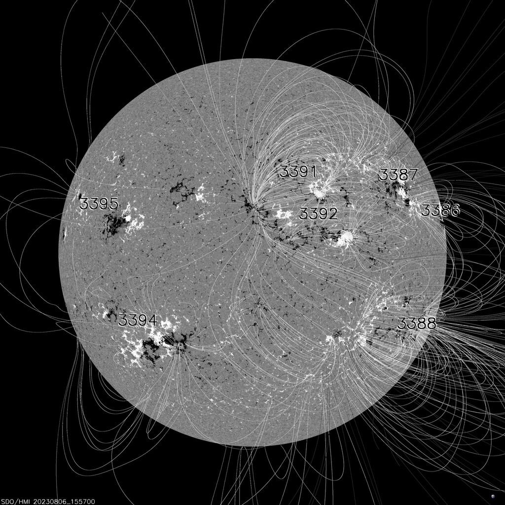 Aktuelles Magnetogramm der Sonne