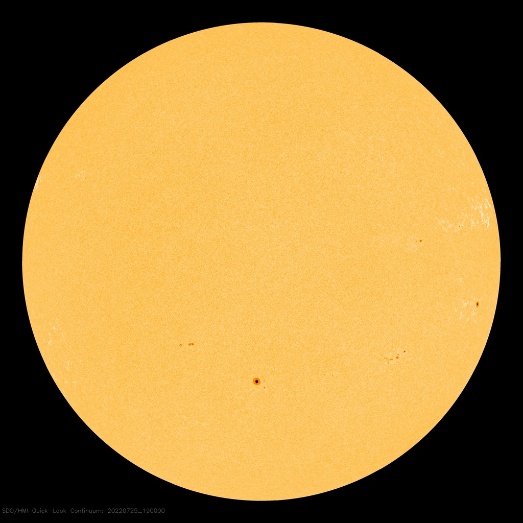 The sun with no spots on 1/10/17