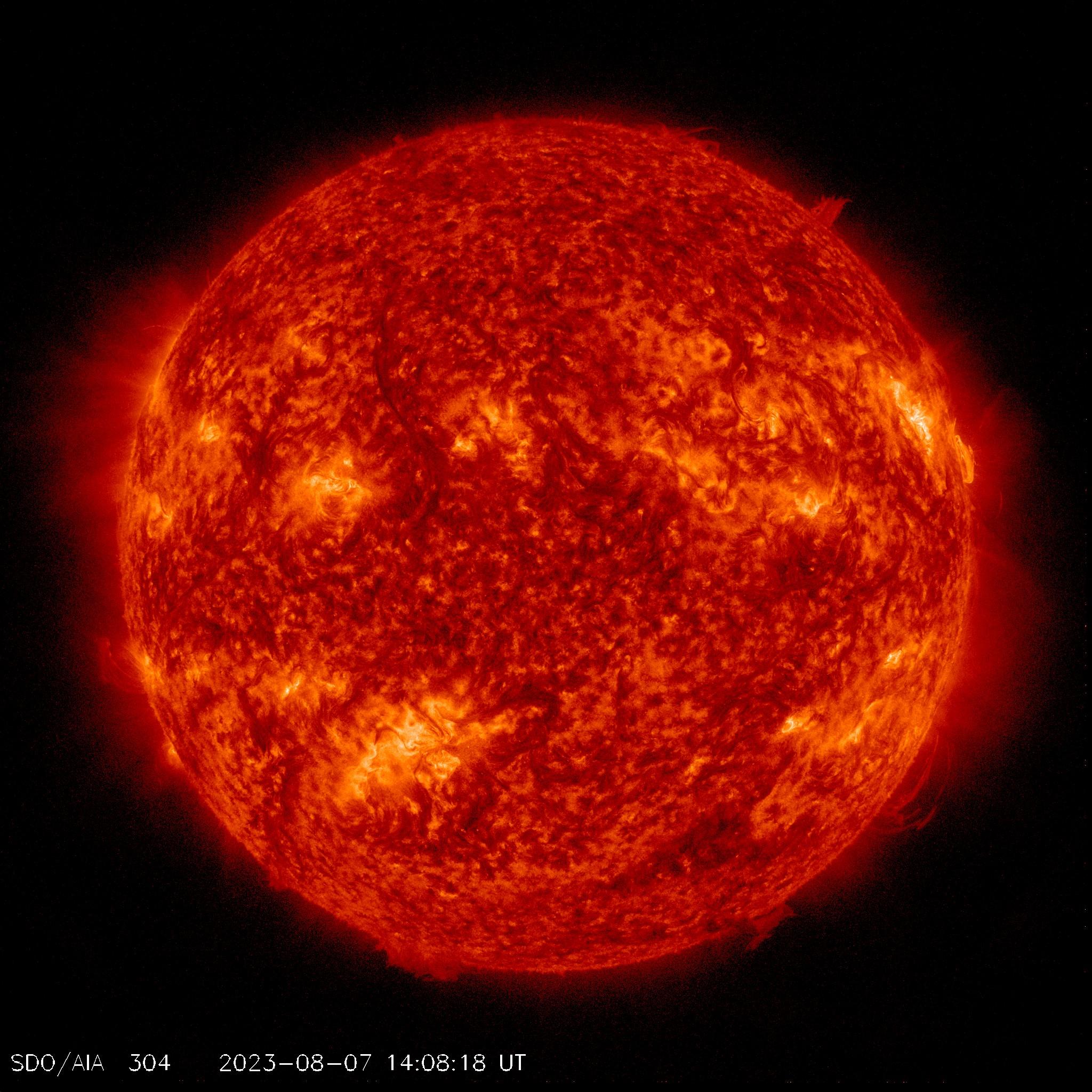 Sole in tempo reale-cromosfera
