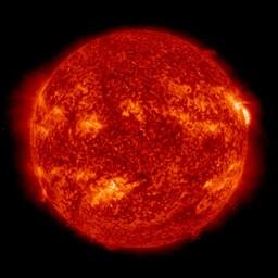 Image direct du soleil H-Alpha