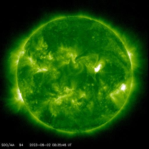 Vlnová délka 9,4 nm, studium slunečních erupcí, charakteristická teplota: 6 300 000 K