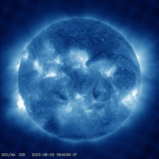 Vlnová délka 33,5, pro studium koróny, charakteristická teplota: 2 500 000 K